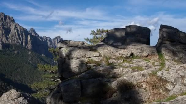 time lapse of the picturesque Bavella range of mountains in corsica, france