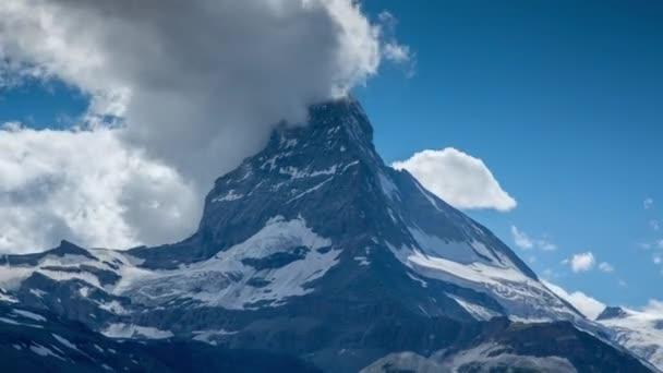 Matterhorn and surrounding mountains in Swiss Alps