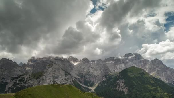 Timelapse of amazing dolomites mountains in Italian Alps