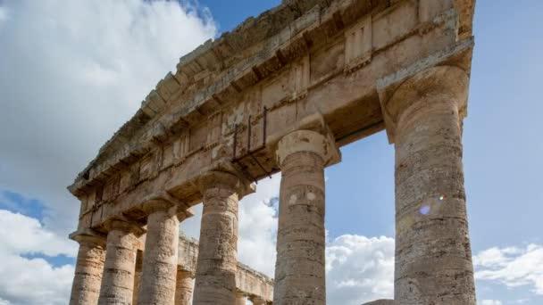 Pohled na řecké trosky Selinunte, Sicílie, Itálie