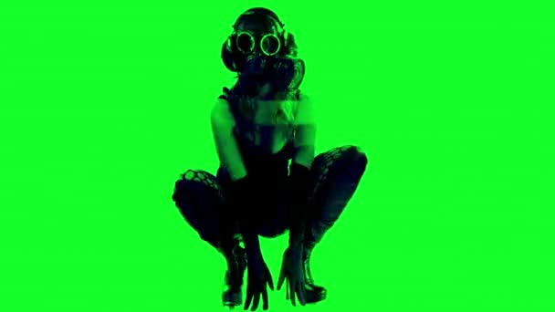 Heels Gas And Beautiful Woman High Black In Mask OXiZuwPkT