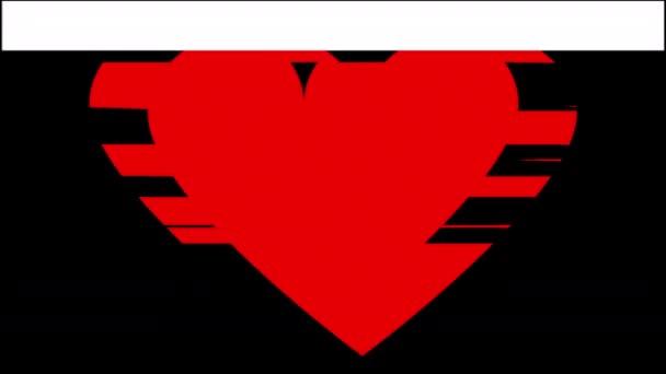 Čerpací tvar srdce s efekty závada a deformace
