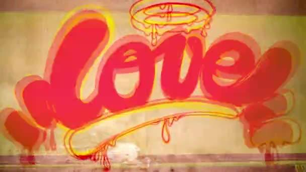 Folyamata festmény szó szerelem graffiti