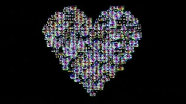nagy gyűjteménye különböző képek készült szív alakú pulzáló
