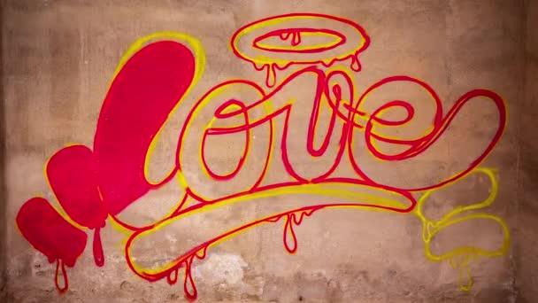 Proces malířství slova láska graffiti