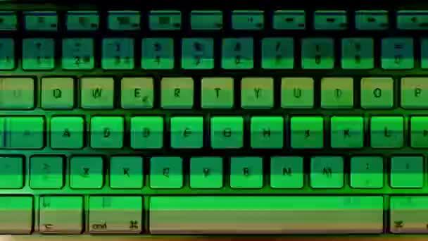 Schwenk-Video der Computertastatur