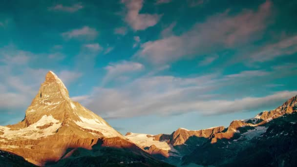 Back and forth timelapse video of Matterhorn, Alps