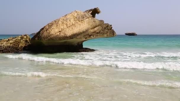 felvétel, Omán beach tengerpart gyönyörű tengerre rocks