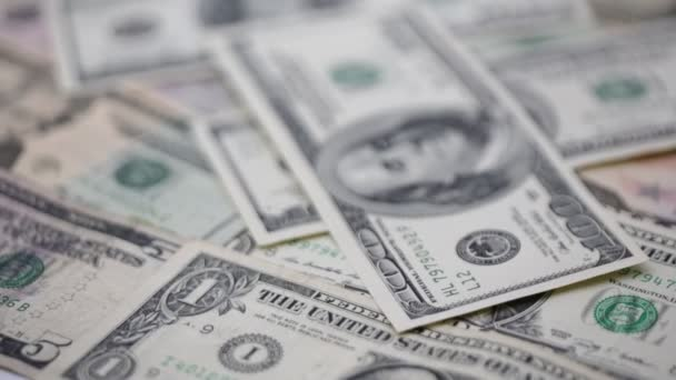 close-up footage of dollar banknotes for background