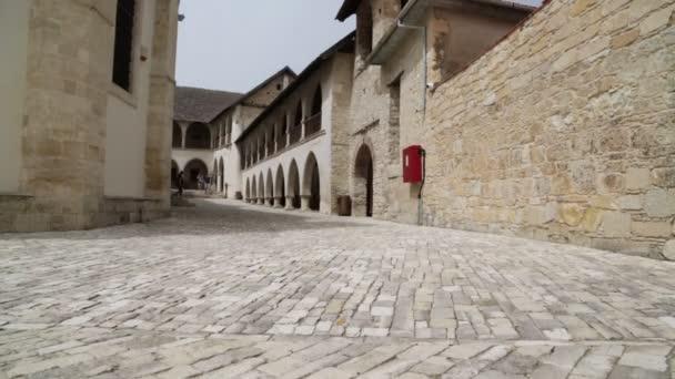 Vyhlídkové záběry starého kostela a historického dědictví na Kypru