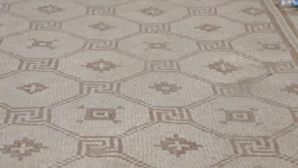 Starožitné keramické římské ozdobné mozaiky