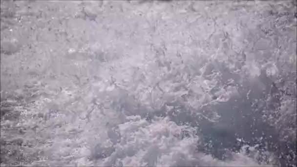 slow motion of splashing water and foam