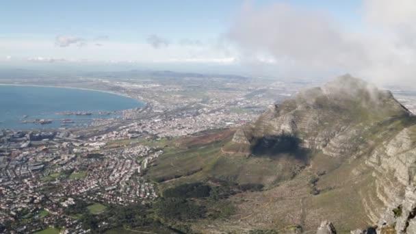 letecké záběry panorama města Kapské město ze Stolové hory
