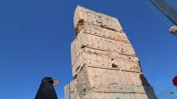 Tourists Persepolis Old Ruins Historical Destination Monuments Iran Stock Video C Lkpro 221372492