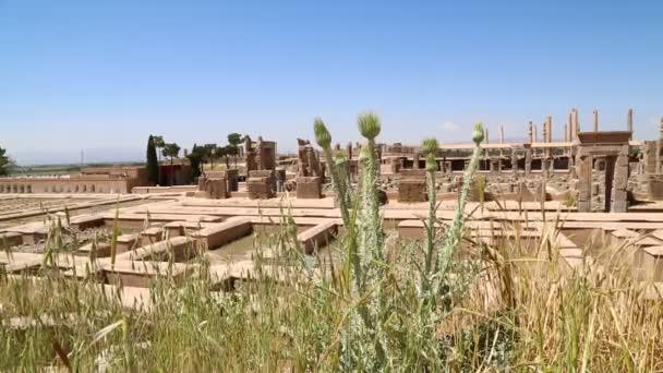 Persepolis staré ruiny, památky historické destinace v Íránu