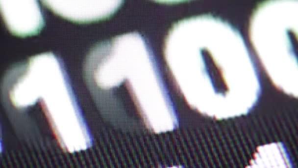 Detailní záběry binární data kódu pro pozadí