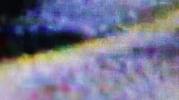 abstraktní rozmazaná deformace záznamu z monitoru LCD