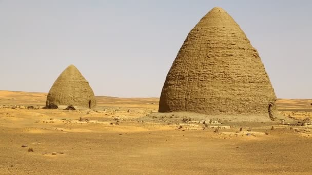 footage of Old Dongada antique city of Nubians near Nilo in Africa, Sudan
