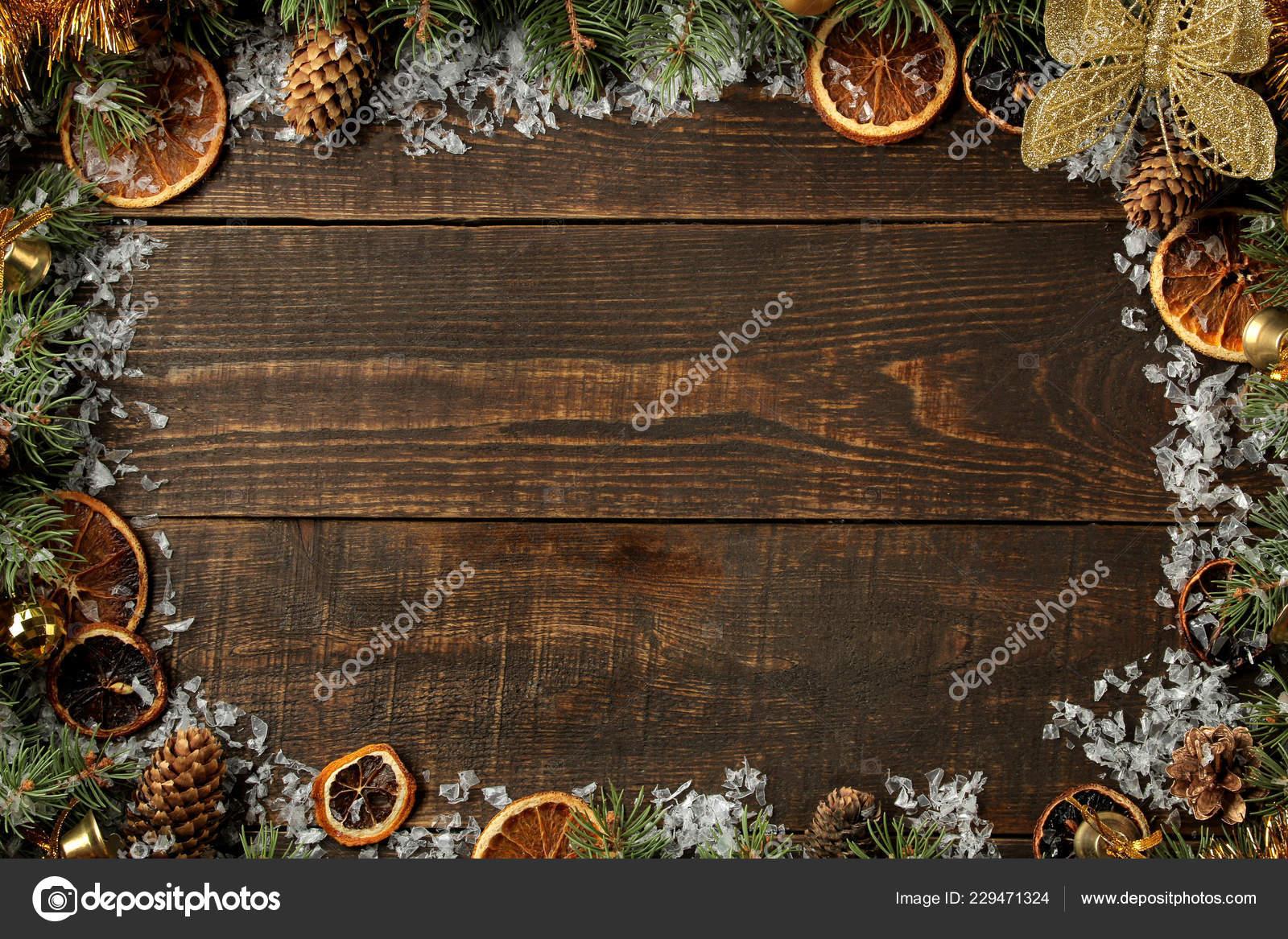Marcos Para Fotos De Arbol De Navidad.Navidad Ano Nuevo Marco Para Texto Con Arbol Navidad