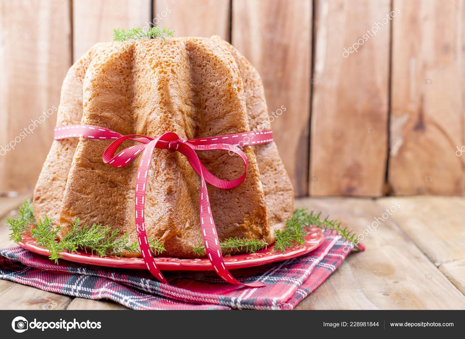 Traditionelle Italienische Weihnachten Obst Kuchen Pandoro Panettone