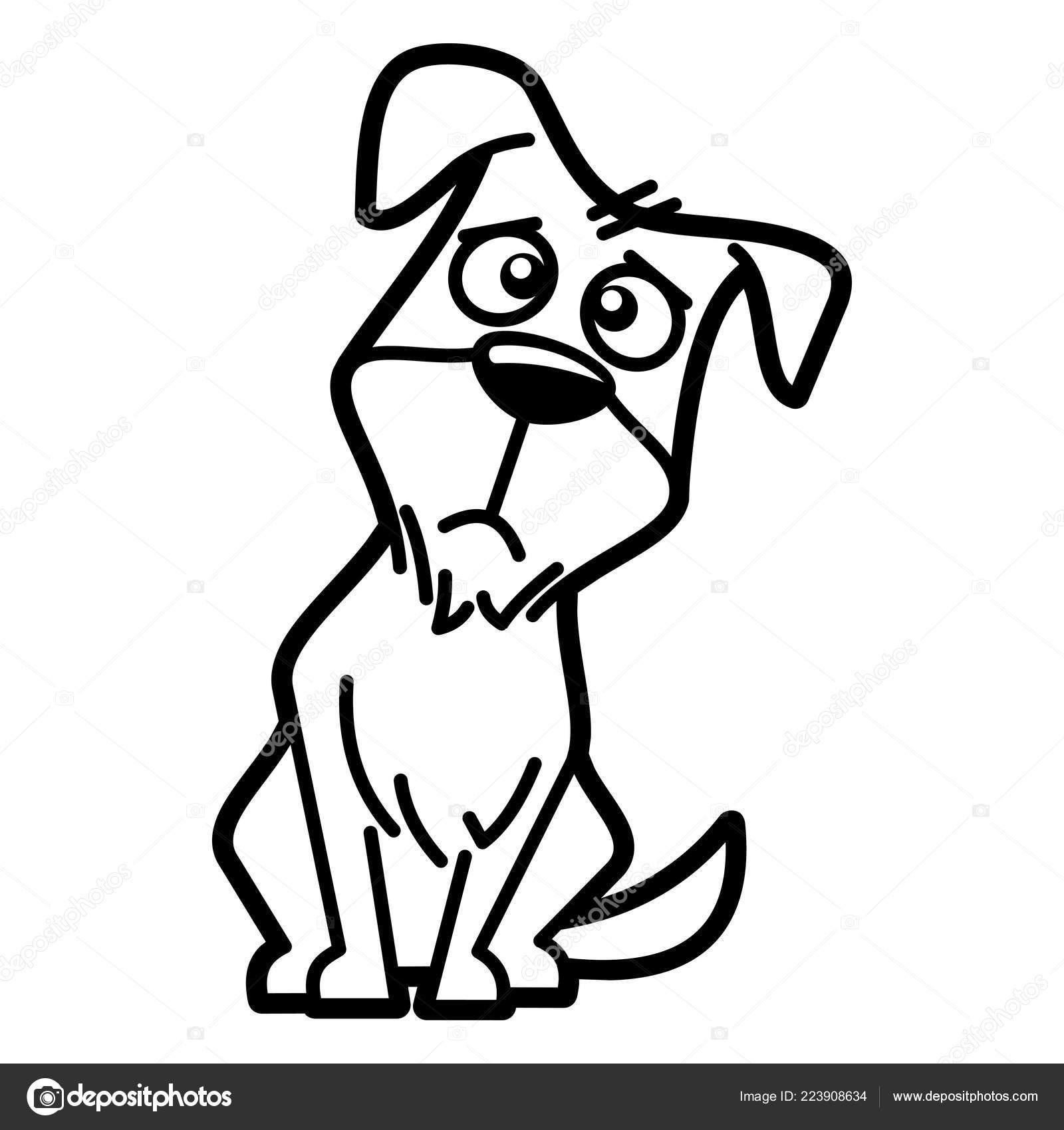 Página Para Colorear Personaje Dibujos Animados Ilustración