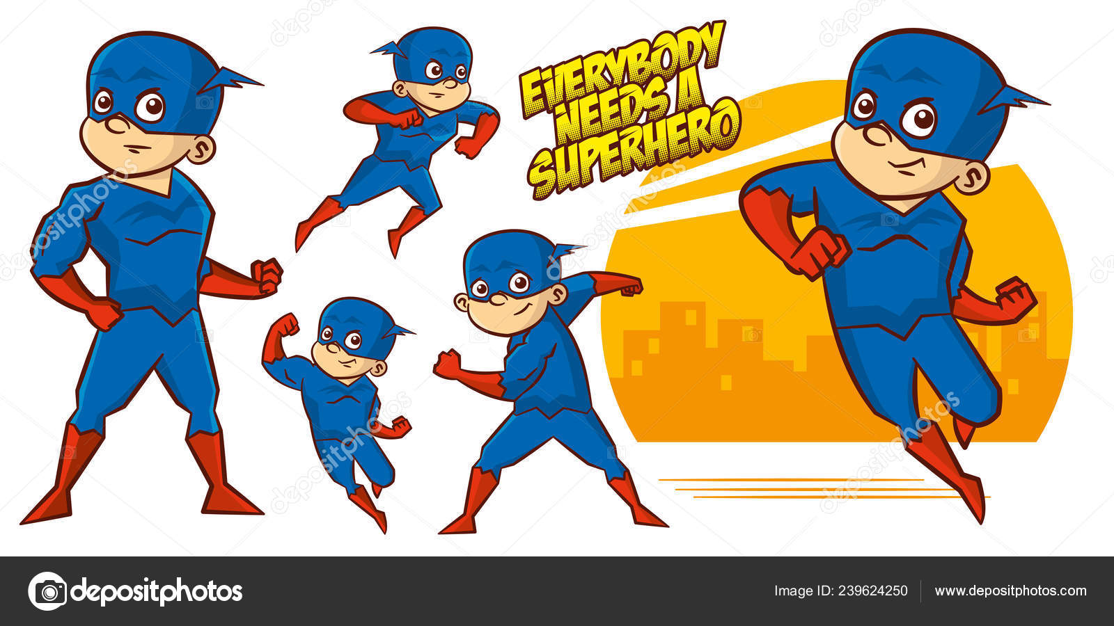 0c25dea4131cb Superhero character Superheroes Set Vector illustration design — Stock  Vector