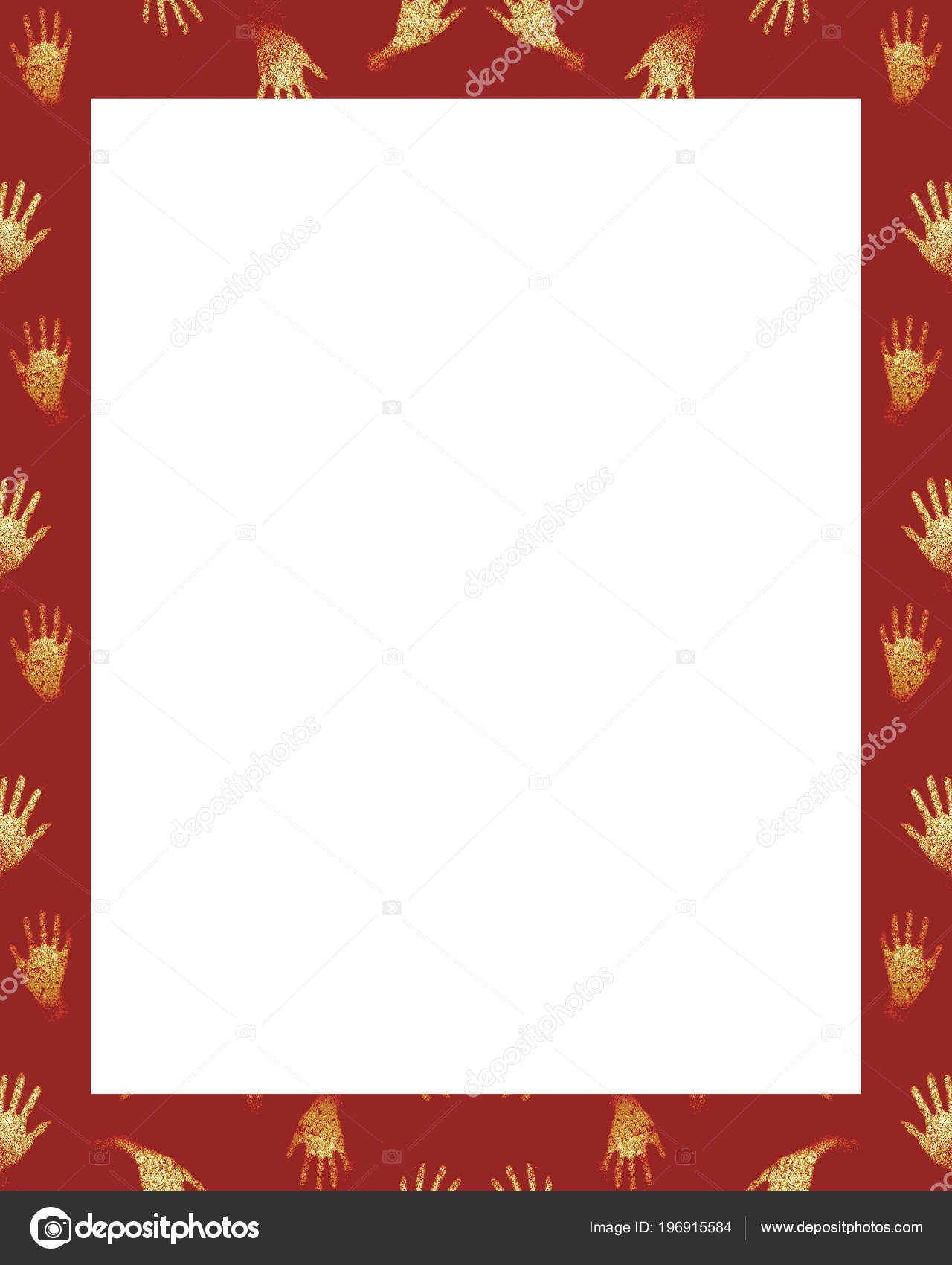 White Frame Background Decorated Design Borders Stock Photo