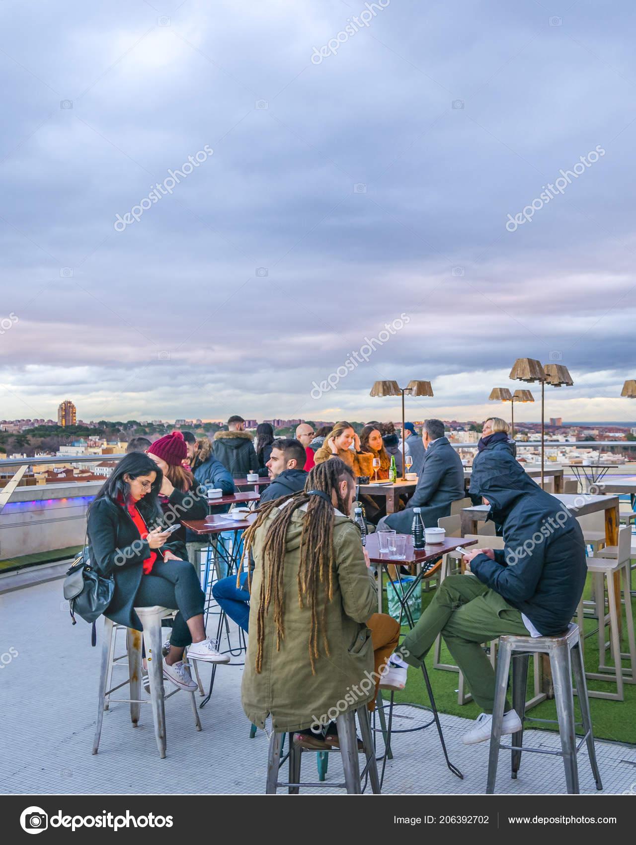 Madrid España Diciembre 2017 Bar Azotea Restaurante Círculo