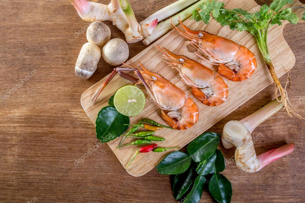 raw material for cooking Thailand Food that call