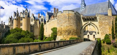 Medieval castles of Loire valley - impressive Montreuil-Bellay.