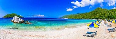 Beautiful beach of Skopelos island - Milia beach. Sporades, Greece