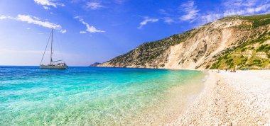 Best beaches of Greece - scenic Myrtos in Kefalonia island