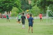 Fotbal trénink pro studenty v odpoledních hodinách.