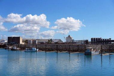 Mackay, Queensland, Australia - June 2020: Commercial fishing boats berthed at marina