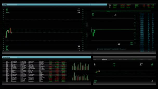 Stock trading application/software interface. Screen with rates and prices of shares. Investment tools showcase. Trader workplace. Financial analytics process. Raising and falling indexes and markers. Shares prices and current positions on market.