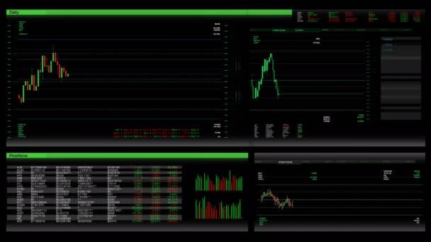 Tőzsde alkalmazás/szoftver interfész. Képernyő, az árfolyamok és árak a részvények. Befektetési eszközök kirakat. Kereskedő munkahelyen. Pénzügyi analytics folyamat. Emelése, és a csökkenő indexeket és markerek. Részvények ára és a jelenlegi piaci pozíciók.