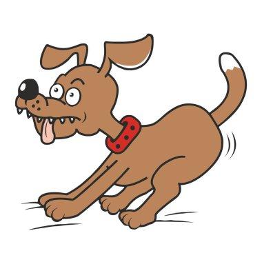 dog and tongue, funny vector illustration