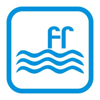 swimming pool, blue pictogram, web icon