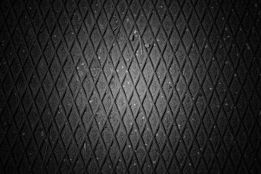 Steel walkway mats sprayed red rust. Iron surface rust. Metal texture background.