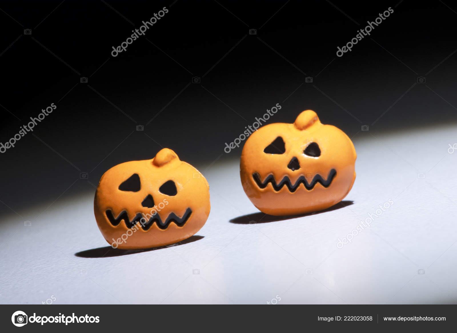 Halloween Background Pumpkins White Background Sound Effects — Stock