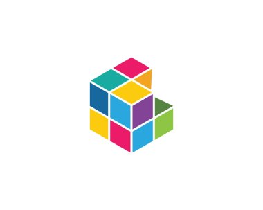 Cube Logo Template vector icon illustration design