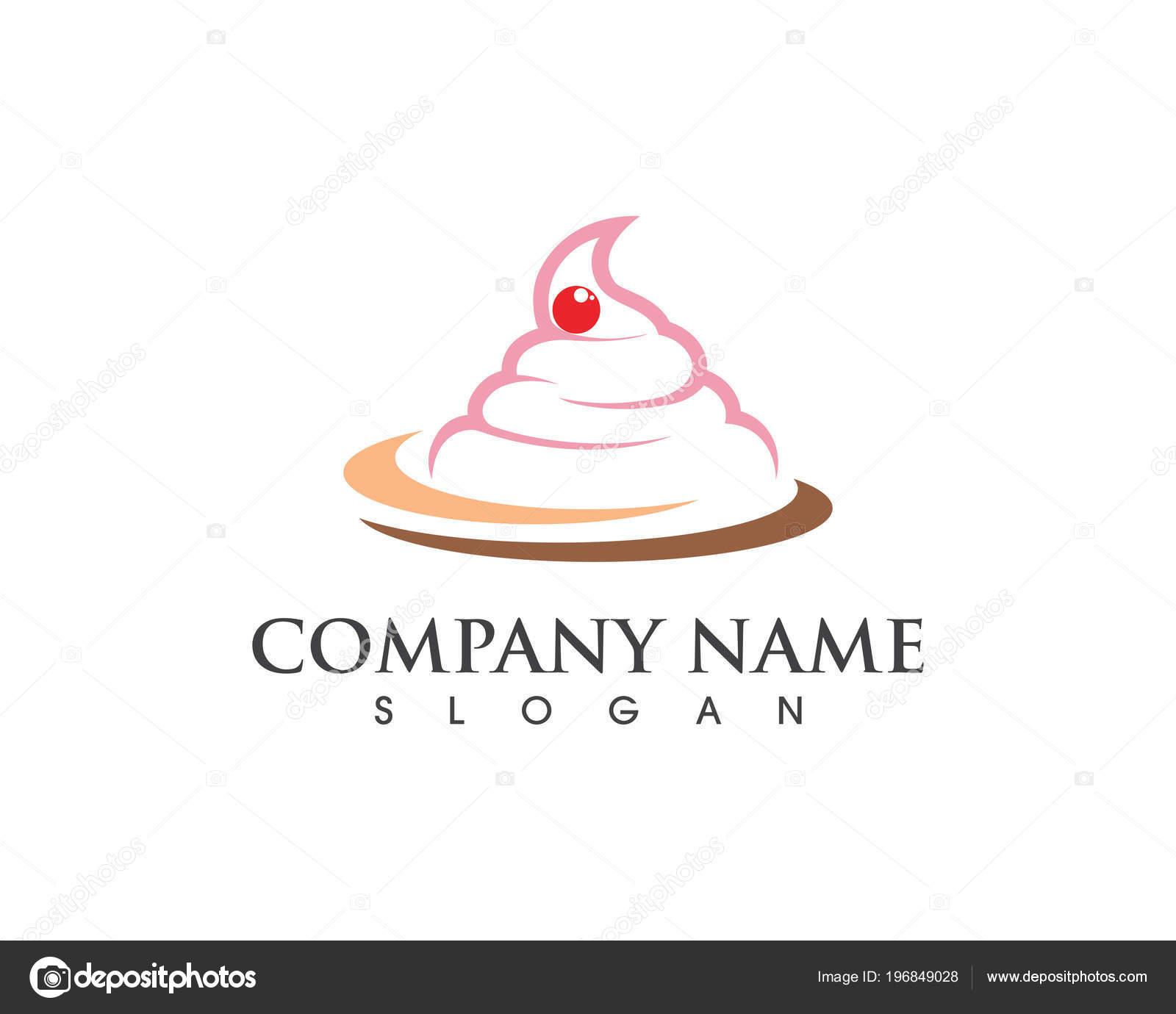 Plantilla Diseño Torta Signo Icono Vector Ilustración — Vector de ...