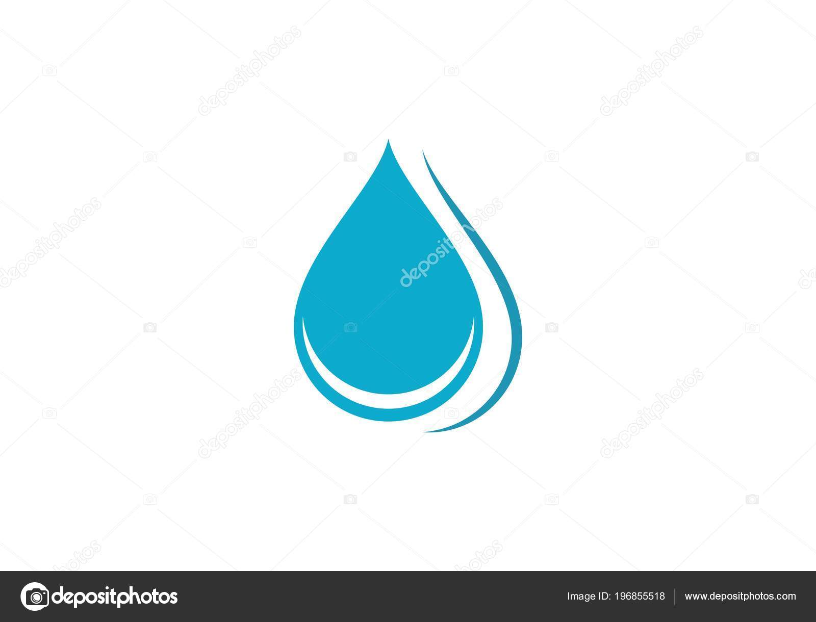 Goutte Eau Logo Template Vector Illustration Design Image