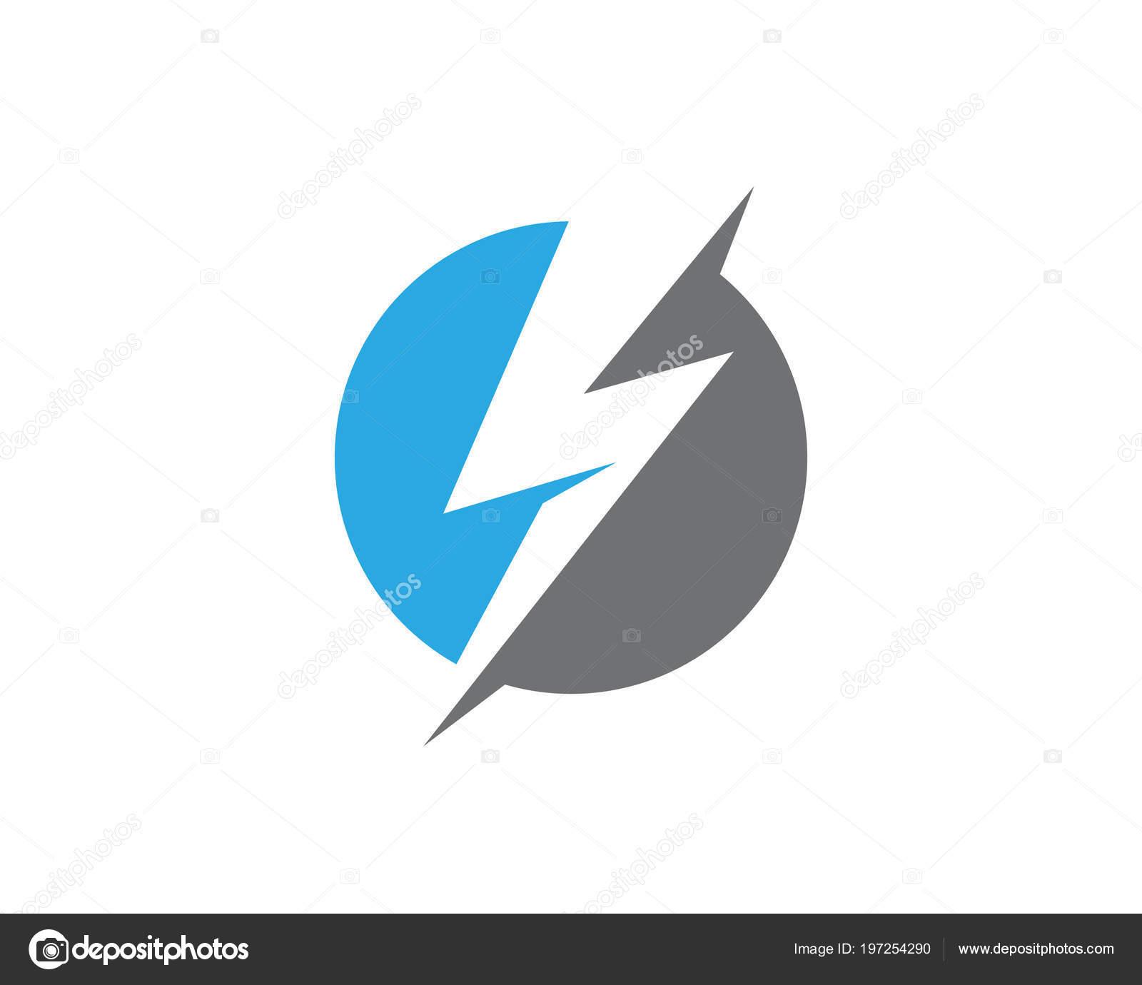 lightning logo template vector icon illustration design stock