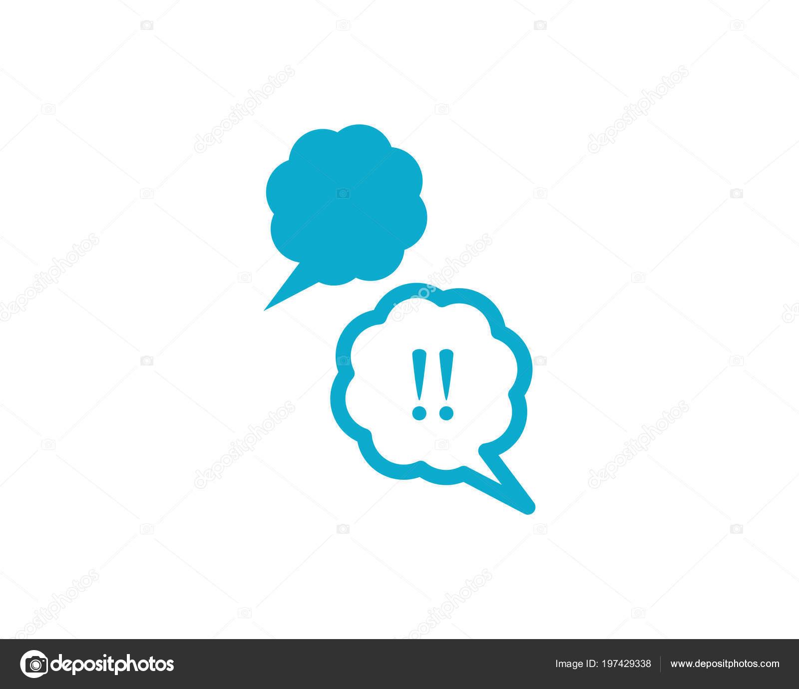 dcd4a5cc1c9b28 Speech Bubble Icon Logo Template Vector Illustration — Stock Vector ...