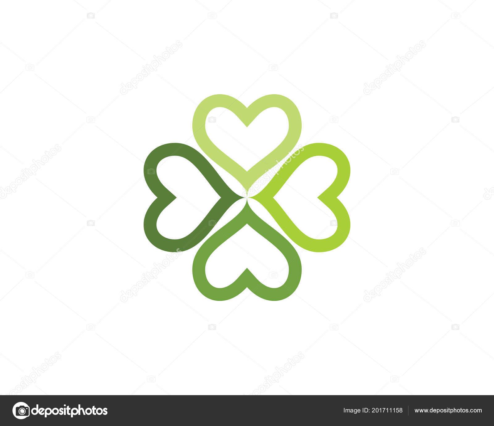 green clover leaf logo template design vector stock vector