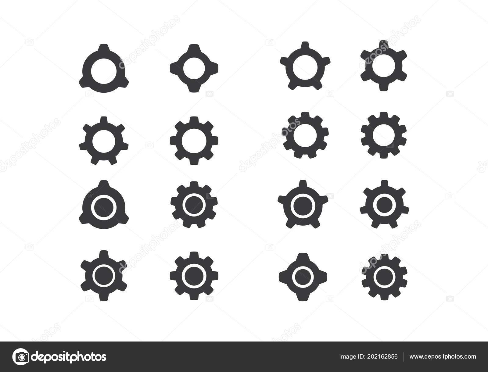 ギアのロゴのテンプレート ベクトル アイコン イラスト デザイン