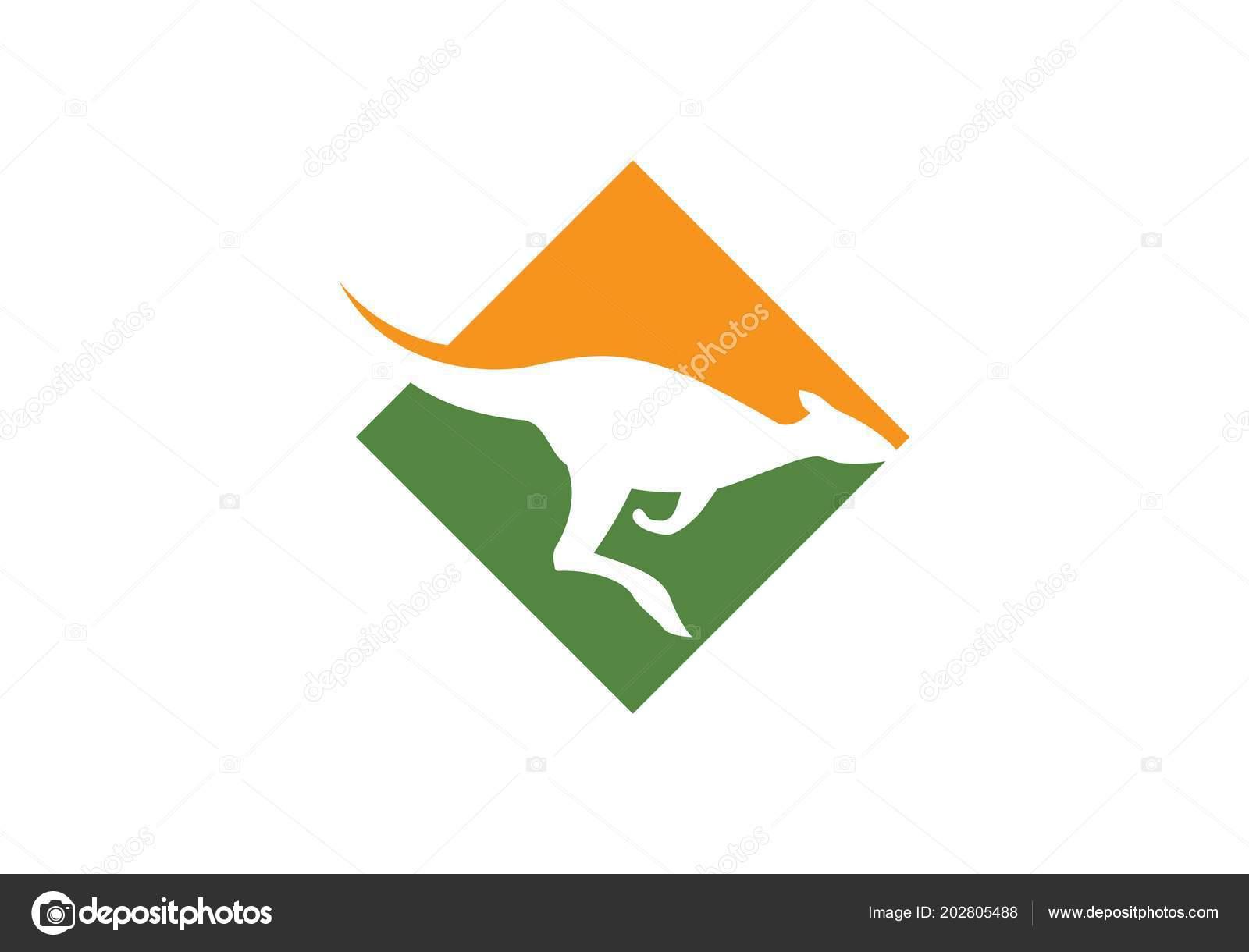 カンガルーのロゴ アイコンのベクター テンプレート ストックベクター