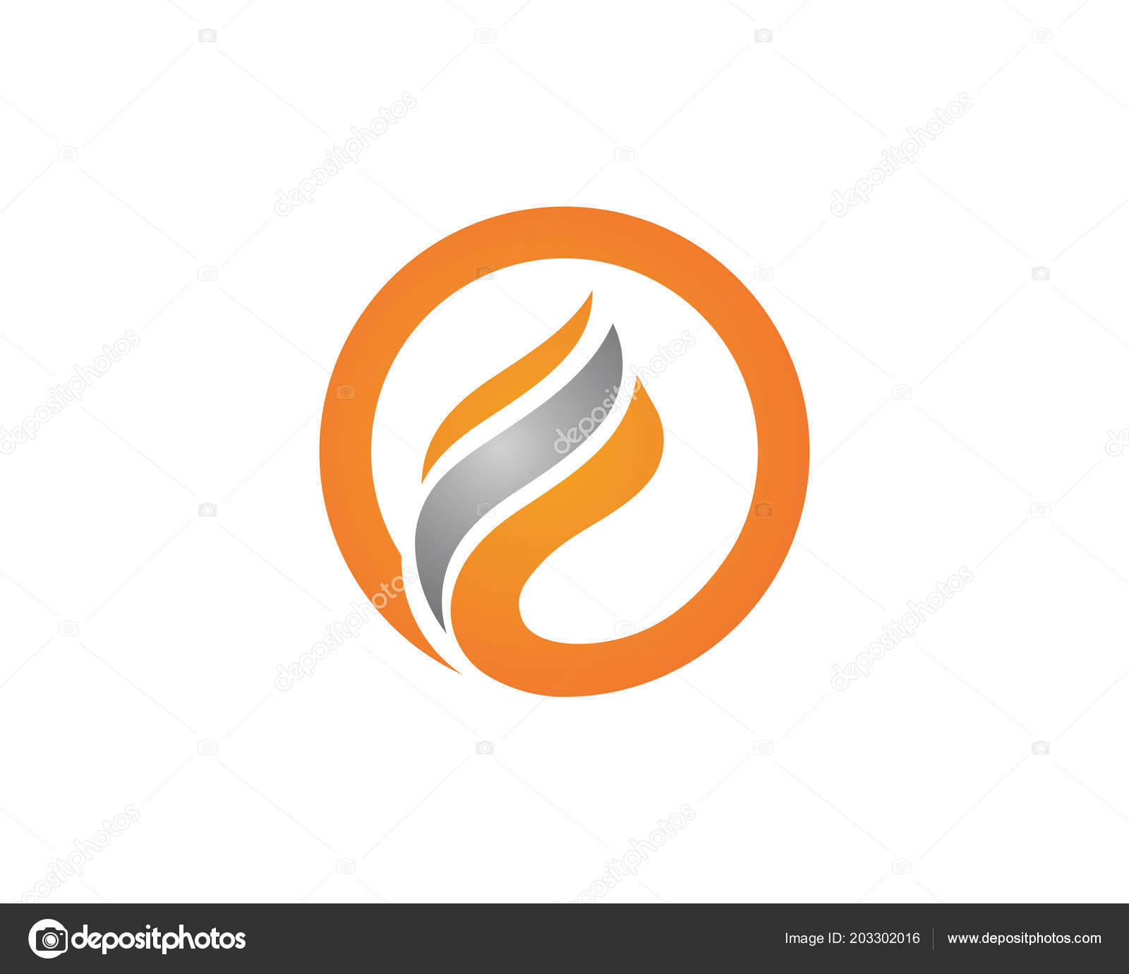 Feu Flamme Logo Template Vector Illustration Design Image