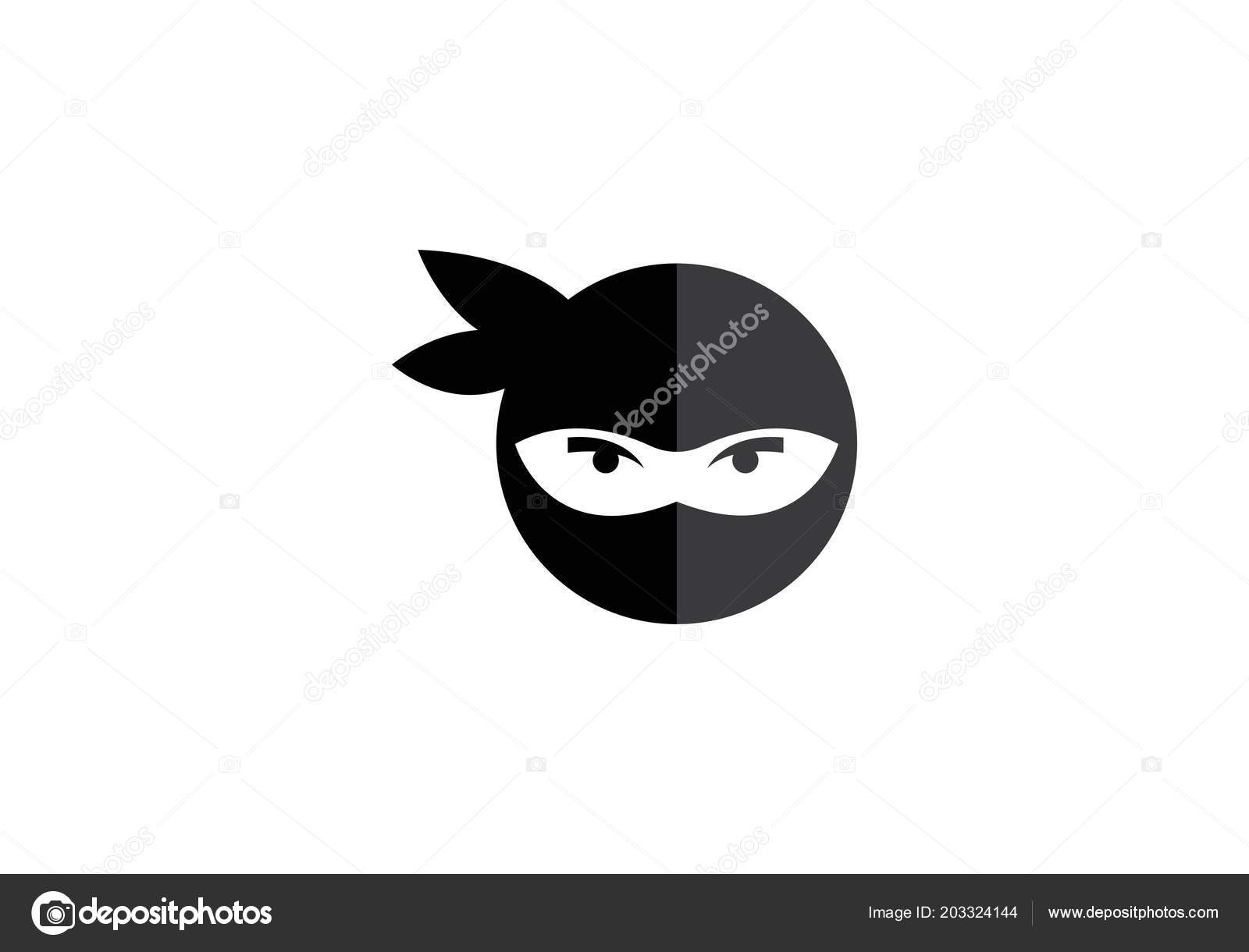 ninja logo vector icon template stock vector elaelo 203324144